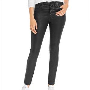 AG Leatherette high waisted Farrah skinny jean